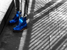 blue boot small